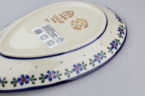 ポーランド陶器 ボレスワヴィエツ「ミレナ社」たまご型プレート 小
