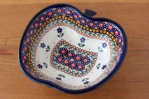 ポーランド陶器 ボレスワヴィエツ「ミレナ社」りんごボウル