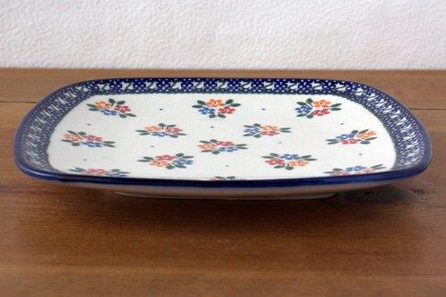 ポーランド陶器 ボレスワヴィエツ「ミレナ社」スープ皿 22cm