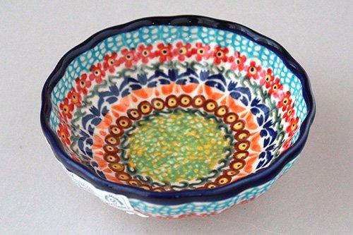 ポーランド陶器 ボレスワヴィエツ「ミレナ社」花小鉢