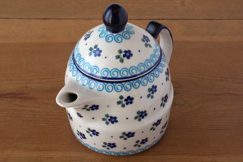 ポーランド陶器 ボレスワヴィエツ「ミレナ社」ティーポット 0.5L