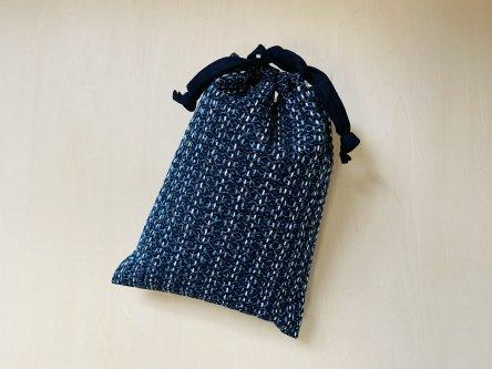 伝統柄 一目刺し合財袋-黒澤かおりさん-(両面) GT29