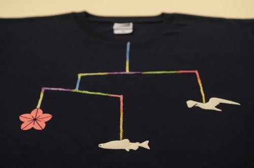 大槌復興 モビールTシャツ(ネイビー)