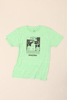 大槌刺し子 星降るまちTシャツ(杢グリーン)