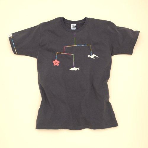 大槌復興 モビールTシャツ(チャコール)