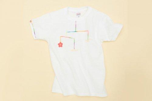 大槌復興 モビール キッズTシャツ(白)