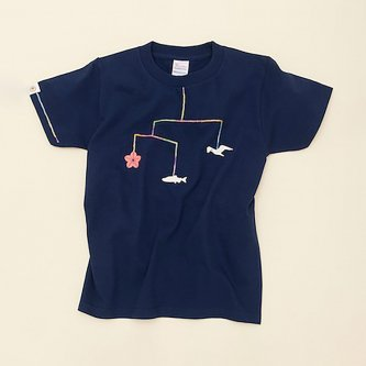 大槌復興 モビール キッズTシャツ(メトロブルー)