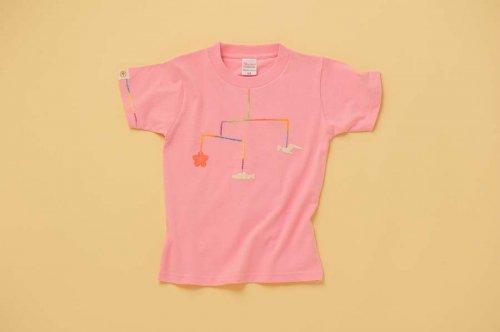 大槌復興 モビール キッズTシャツ(ピンク)