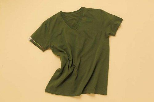 大槌復興 VネックTシャツ(カーキ)