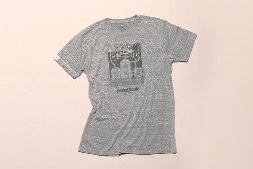大槌刺し子 星降るまちTシャツ(杢グレー)