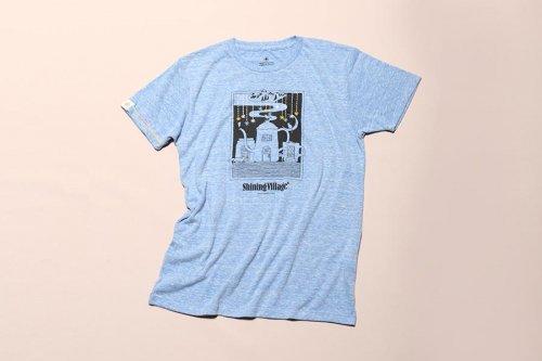 大槌刺し子 星降るまちTシャツ(杢ブルー)