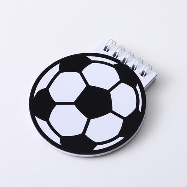 【アイテムキューブ】事務・文具・ビジネス用品 > 文具 | サッカーボール型 リング付きメモ帳