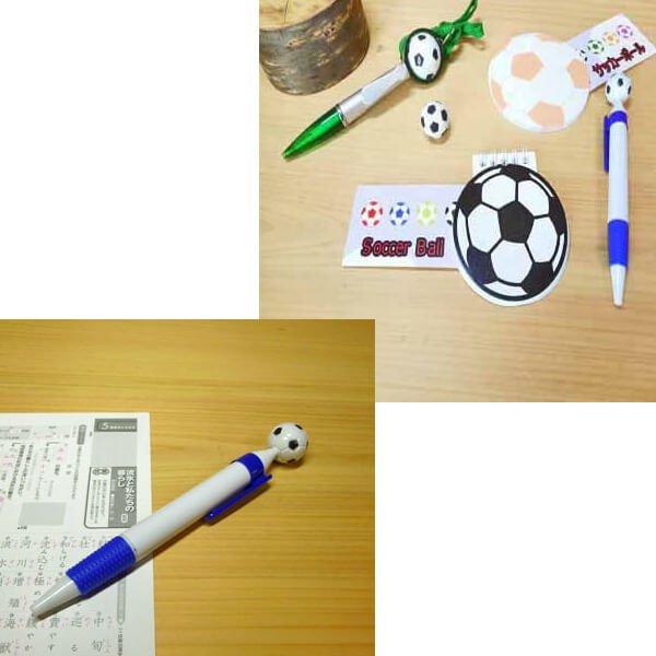 【アイテムキューブ】事務・文具・ビジネス用品 > 文具 | サッカーボール付き シンプルボールペン