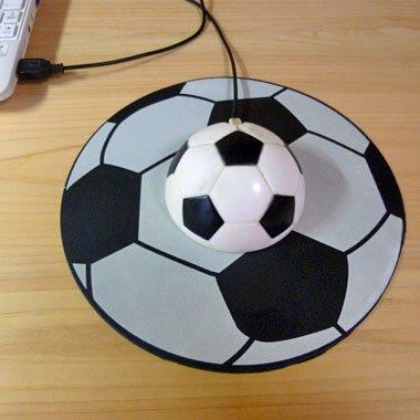 【アイテムキューブ】パソコン・周辺機器 | サッカーボール型 マウスパット
