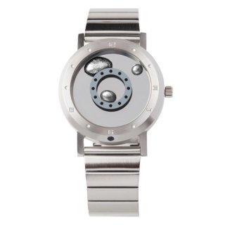 LMW 液体金属 腕時計 シルバーメタルベルト