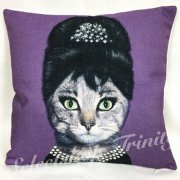 【TRINITY SELECT】アニマルクッションカバー- Audrey Hepburnキャット