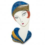 【LaliBlue】Flapper Thelma Brooch Blue