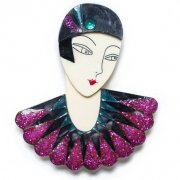 【LaliBlue】Flapper Marion Brooch Purple
