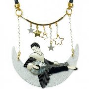 【LaliBlue】Dancing with the Moon Necklace