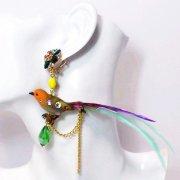 【TIMBEE LO】 Long-Tail Bird Earring (MULTI)
