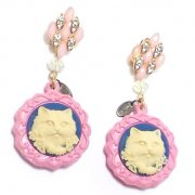 【TIMBEE LO】 Sculpture Cat Earring(A)