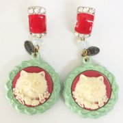 【TIMBEE LO】Sculpture Cat Earring(E)