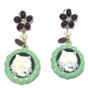 【TIMBEE LO】 Sculpture Cat Earring(D)