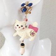 【TIMBEE LO】 White Kitten Earring(A)