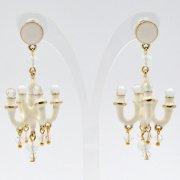 【TIMBEE LO】Chandalier Earring white