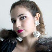 【TIMBEE LO】Daisy Ball Earring white