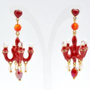 【TIMBEE LO】Chandalier Earring Red