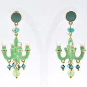 【TIMBEE LO】Chandalier Earring Green