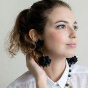 【TIMBEE LO】Daisy Ball Earring Black