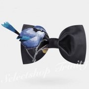 【BOW TIE(蝶ネクタイ)】BIRD EMBROIDERY