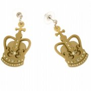 【Anna Lou OF LONDON】Gold Crown Earrings