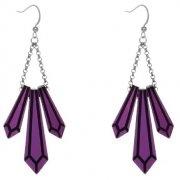 【Anna Lou OF LONDON】Dark Purple Crystal Acrylic Earrings