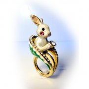 【TIMBEE LO】Rabbit Ring (White)