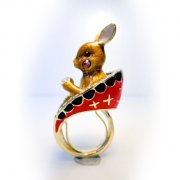 【TIMBEE LO】Rabbit Ring (Brown)