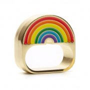 【ME & ZENA】 Rainbow Bright two finger ring