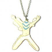 【Dekohta】 Alphabet Necklace-X