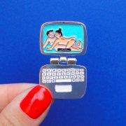 【Coucou Suzette】Computer Pin - White