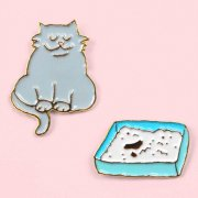 【Coucou Suzette】Cat & litter Pins Set