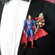 【BOW TIE(蝶ネクタイ)】SUPERMAN(ブローチ付)