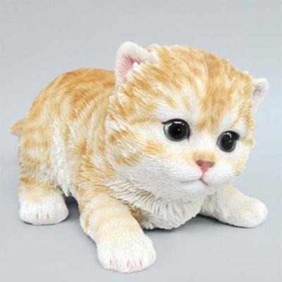 猫の置物 ベビーキャット トラ  ネコ キャット 人形