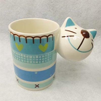 キャットマグカップ ブルーベース ネコ 猫