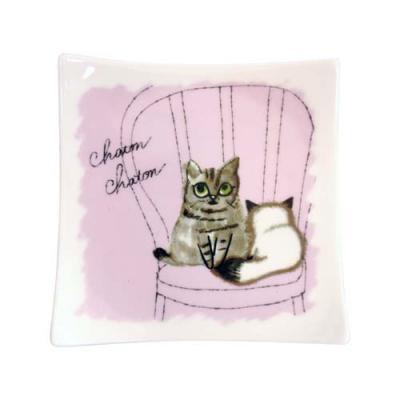 Shinzi Katoh シンジカトウ Chaton Chaton 角皿A 猫 ネコ キャット