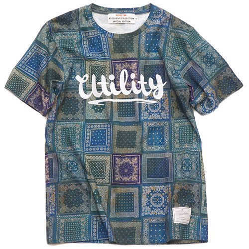 EFFECTEN(エフェクテン)  s/s Tee'vintage paisley pattern'