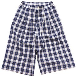 EFFECTEN/エフェクテン indigo check gaucho pants
