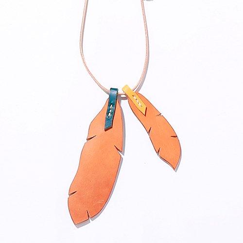 EFFECTEN/エフェクテンfeather necklace double