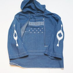 elephant TRIBAL fabrics/エレファントトライバルファブリックス   ortega denim pull over hooded(indigo blue)